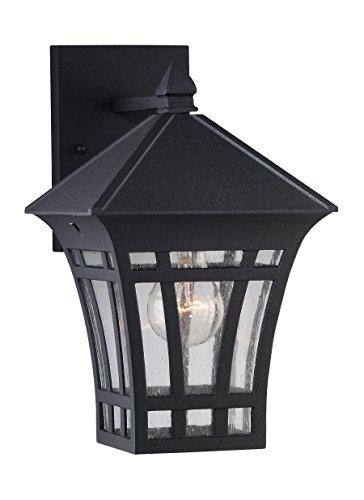Herrington Outdoor Wall Lantern in Black - Size: 11.562 H x