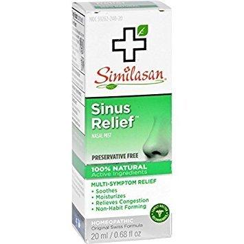 Similasan Sinus Relief Nasal Mist 0.68 oz (Pack of 5) by Similasan