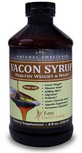 Real Yacon Syrup 100% Pure. Best Results For Healthy Weight Control and Belly Fat Reduction. Delicious, All-natural Sugar Substitute, Low Glycemic, Low Calorie, High Prebiotic, Diabetic Friendly. Metabolism Booster Lowers Blood Sugar, Helps Relieve IBS. by EasyDailyLiving Healthy Weight and Waist (Image #1)