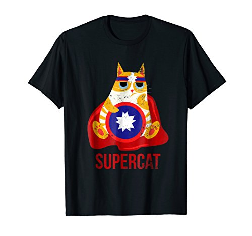 Funny Supercat TShirt Animal Lover Superpower Men Women -