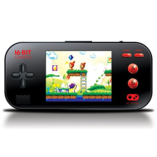 "My Arcade - Gamer Max Portable Gaming System with 220 Built-in 16 bit Games, 3.2"" LCD screen + Headphone Jack"