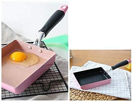 cupcinu Mini Omelettpfanne mit Antihaftbeschichtung Pfanne Japanische Crepe-Pfannen f/ür Herd und Induktionsherde 18cm/×13cm