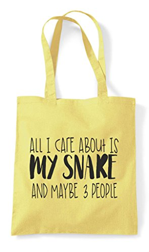 People Maybe Bag Themed Snake Cute Three Is Care Lemon I Funny All Shopper Animal My Tote And About qzfxB0