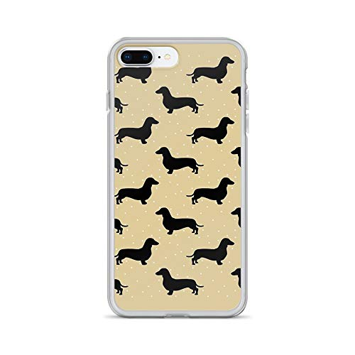 iPhone 7 Plus/8 Plus Pure Clear Case Cases Cover Dachshund Cream Pattern Sausage Dog ()