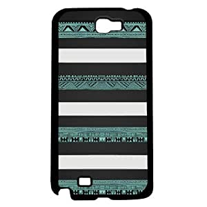 Black, White and Teal Aztec Tribal Pattern Hard Snap on Phone Case (Note 2 II)