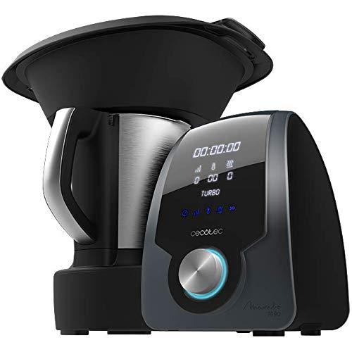 Cecotec Robot de Cocina Multifunción Mambo 7090. Capacidad 3.3L, Temperatura hasta 120ºC, Selección Grado a Grado, 10…