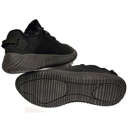 Baskets mode style running été femme noir - légères - flexible model 2017 - basket, casual, simple, basse, noir, homme