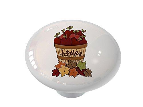 Gotham Decor Basket of Apples High Gloss Ceramic Drawer Knob