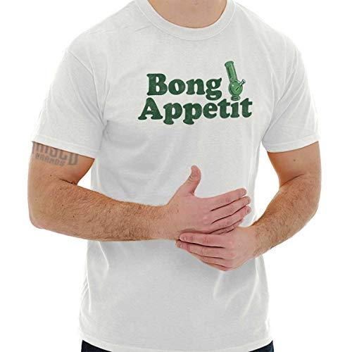 Brisco Brands Bong Appetit Marijuana Stoner Munchies Gift T Shirt Tee White