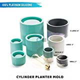 Bold Maker Studios: Cylinder Silicone Mold. DIY Planter Mold. Concrete Planter Mold, Clay Molds, Silicone Concrete Molds.