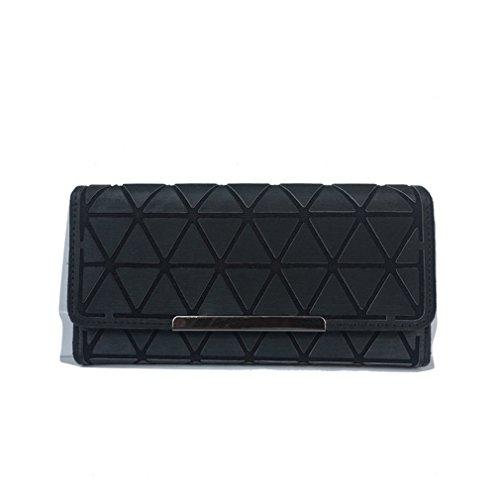 Betrocka Women Long Wallets,Diamond Lattice Long Purse Luminous Wallet black 3 by Betrocka