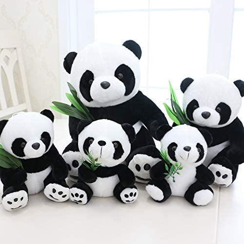 Peluche Noir Et Blanc Feuille De Bambou Panda Doll Doll Panda Ragdoll Enfant Cadeau DAnniversaire Cadeau Mignon Mignon 30 Cm Feuille De Bambou Panda