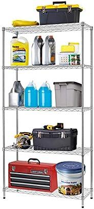 Metal Shelf Large Storage Shelves Heavy Duty Height Commercial Grade Steel Layer Shelf 1250 LBS Capacity