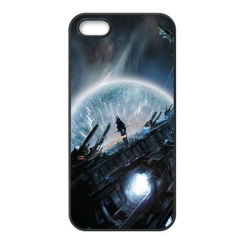 Futuristic Surreal coque iPhone 5 5S cellulaire cas coque de téléphone cas téléphone cellulaire noir couvercle EOKXLLNCD23789