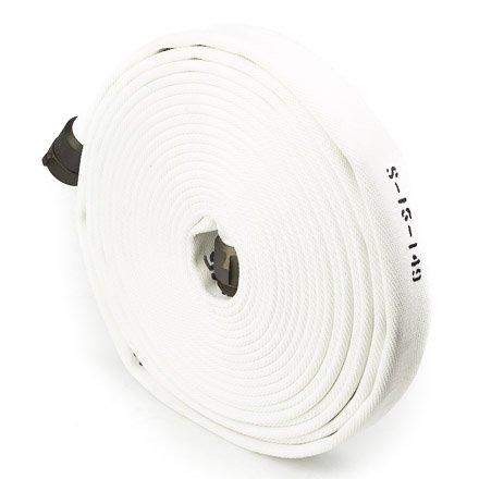 White 1'' x 100' Forestry Fire Hose (Alum NPSH Couplings)
