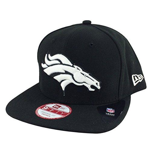 New Era Original Fits Denver Broncos Black White Basic Snapback Hat Cap