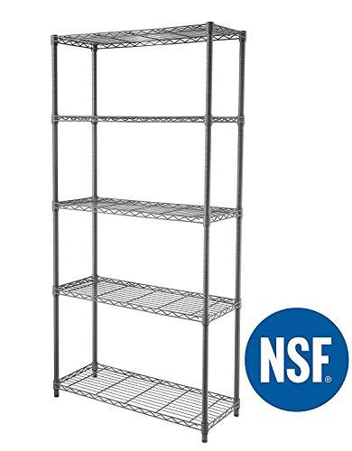 eeZe Rack ST-ETI001 HEAVY DUTY Steel Wire Chrome Shelving, Storage Rack, NSF CERTIFIED,...