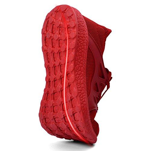 Leggeri Scarpe da Ginnastica Sportivi Sneakers Corsa Confortevoli Scarpe da rosso Uomo QANSI BO5q0x