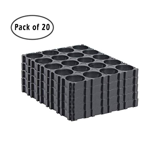 GreatBBA Plastic 4x5 Cell Spacer Radiating Shell Holder Bracket for 18650 Battery, Pack of 20
