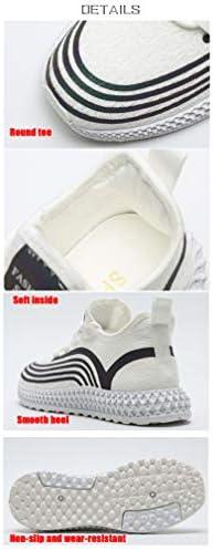 XXXZZL Damen Tennisschuhe Sneaker Sportschuhe Atmungsaktiv Gym Turnschuhe Lässige Lauf Papa Schuhe Leichtgewicht Outdoor Sneaker Shoes,Weiß,40