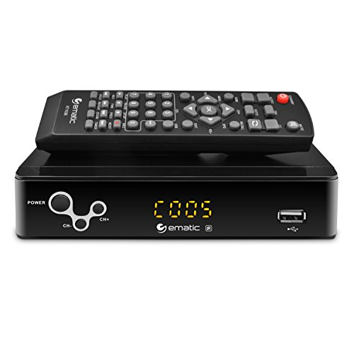 Digital Converter, Ematic Digital TV Converter Box with Recording, Playback, & Parental Controls [ AT103B - Components A2z