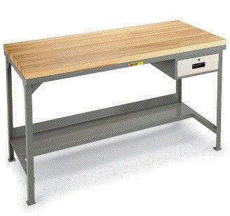 Welded Steel Workbenches With Butcher Block Tops Ahwod 2448 24 X