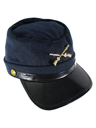 Union Kepi Hat Wool Cadet Federal Army Soldier Civil War Cap 57cm-Small Navy Blue