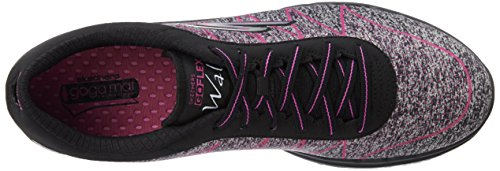 Skechers Go Flex-Ability, Chaussures de Fitness Femme, Bleu Black/Hot Pink