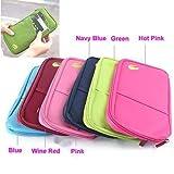 Travel Bag Pouch Passport Id Credit Card Wallet Cash Holder Organizer Case Box (Navy Blue)