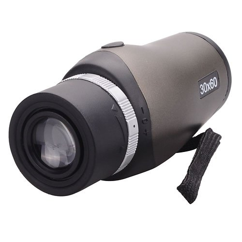 Compact High Clear 30×60 Zoom Telescope Monocular with Carrying Pouch for Outdoor Sports Travel – Gray