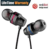 Earbuds, 3.5mm Metal Housing Wired Earphones Bass Stereo Noise Cancelling Headsets with Mic and Volume Control for Workout Sports Jogging Gym