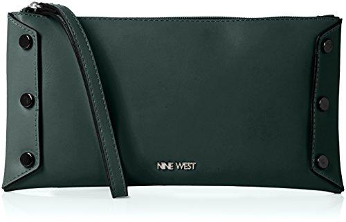 Nine West Womens Sheer Genius Wristlet Sm Wristlet Dk Emerald/Hematite