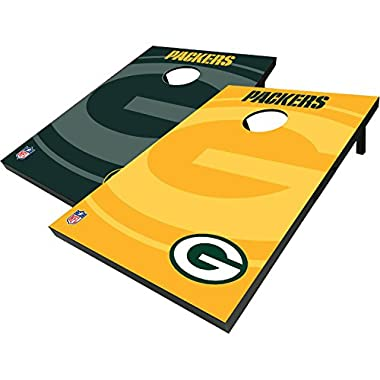 Officially Licensed NFL Green Bay Packers Cornhole Bean Bag Toss with 8 Bean Bags