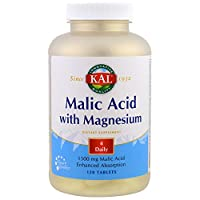 KAL, Malic Acid with Magnesium, 120 Tablets(Pack of 3)