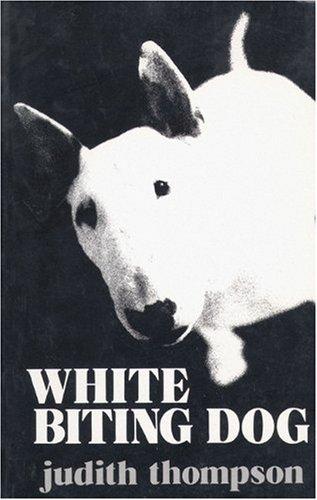White Biting Dog