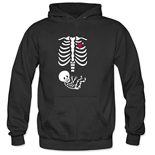 Bart Perkin Men's skeleton x-ray maternity Male Hooded Sweatshirts XXL Black