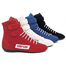 Simpson 28110R Red High Top Leather Driving Shoe