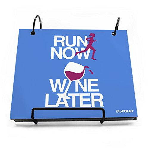 BibFOLIO Race Bib Album | Bib Holder by Gone For a Run | Run Now Wine Later | Periwinkle