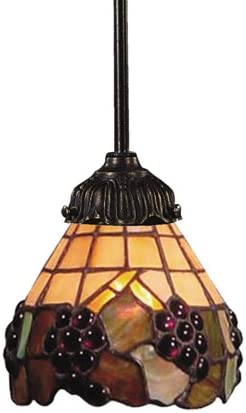 Elk 078-Tb-07 Grapevine Mix-N-Match 1-Light Pendant, 23-1 2-Inch H, Tiffany Bronze