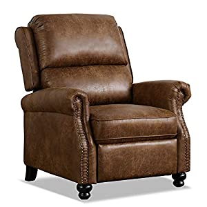 LEOVOL Recliner chair,Push Back Recliner,Recliner Armchair with Adjustable Leg Rest and Reclining Functions,for Lounge…