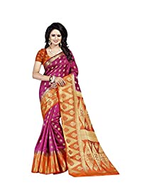 Mohit Creations Heavy Rich Pallu Banarasi Silk Weaving Saree with Unstitched Blouse Piece