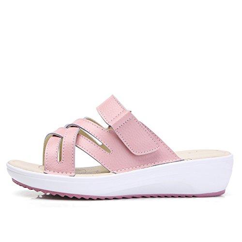 Slope outdoor UK Pink 3 US 5 EU Leatherette flip student summer bottom AWXJX flops Soft Non women's 5 5 Casual slip 35 A XOSFnBx7