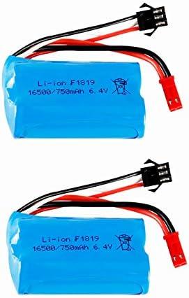 2 Baterias 6.4v 750mAh 16500 LiFePO4 para WLtoys A949-A