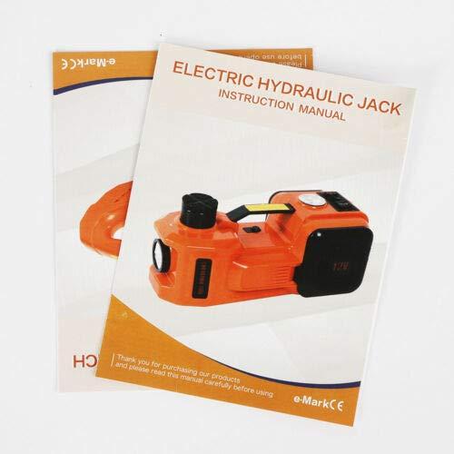 YUNRUS 12V DC 3T Car Repair+Impact Wrench Electric Hydraulic Floor Jack Lift Equipment