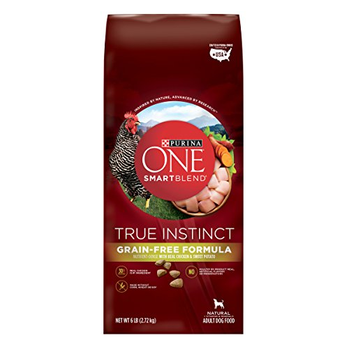 Purina ONE Grain Free, Natural, High Protein Dry Dog Food, SmartBlend True Instinct Real Chicken - 6 lb. Bag