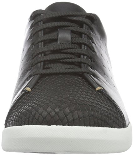 Sneakers Tri Clarks Black Nero Leather Donna Abby qFxwEP
