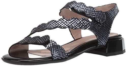 BeautiFeel Women's MUSA Heeled Sandal Black/Indigo SATINATO Tarta 420 Medium EU (11 US)
