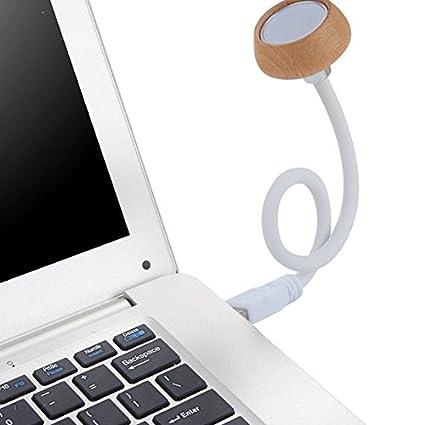 HTAIYN 1W USB Flexible de Madera LED luz de la Noche de la lámpara de Lectura