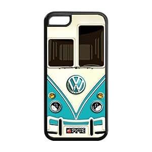 BestClassmates (TM) Iphone 5 5s Case, Teal VW Minibus Iphone 5 5s Cover Hard Cases
