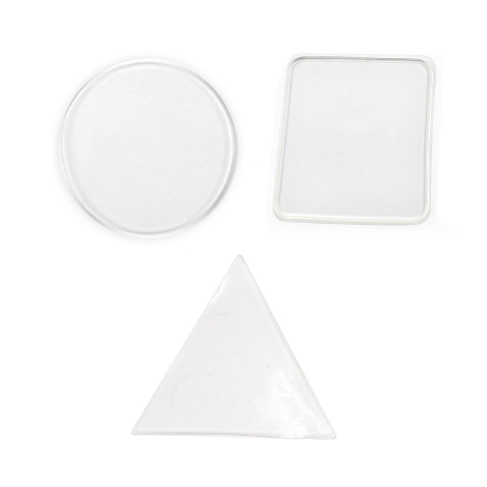 12Packs Clear Non-Slip Cell Pads Car Dashboard Sticky Cell Mats Magic Premium Anti Slide Gel Mat Anti-Slip Gel Pads Sticky Auto Gel Holder DGQ Leateck CPGpads-c